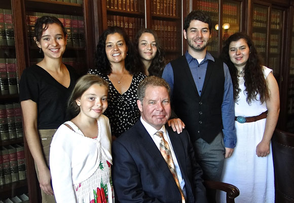 Photo of Justice Kelly's family