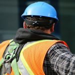 Construction worker banner